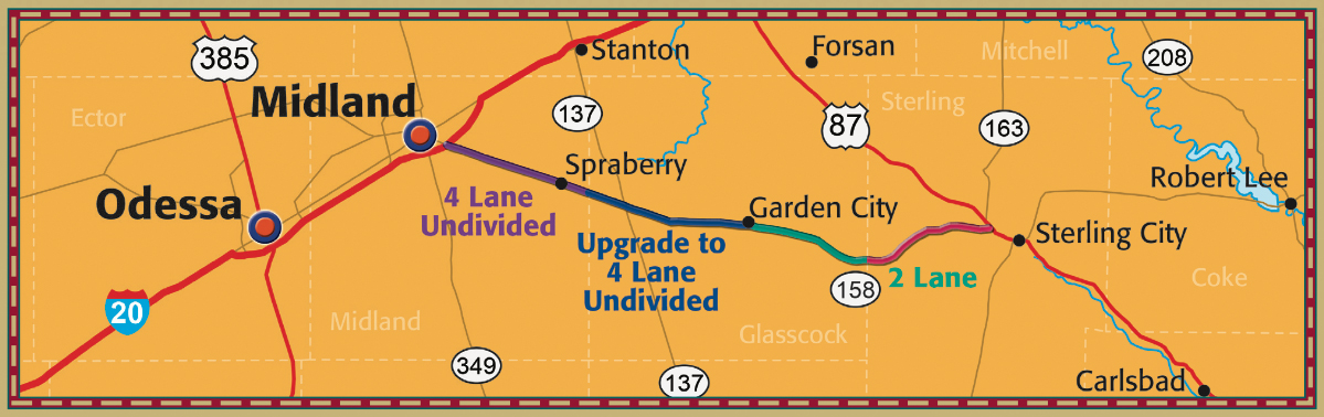 Highway 158 Improvement Map
