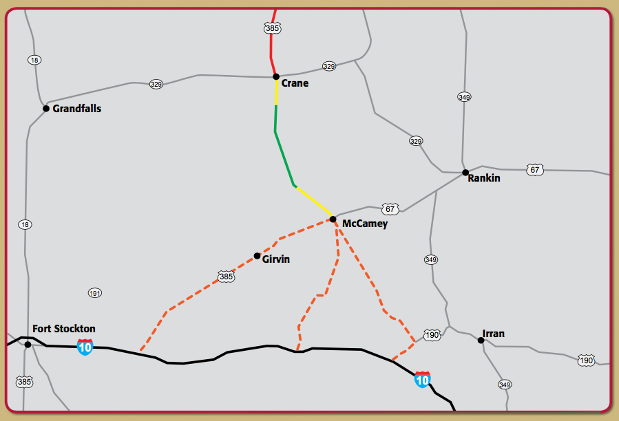 US 385 Improvement Map