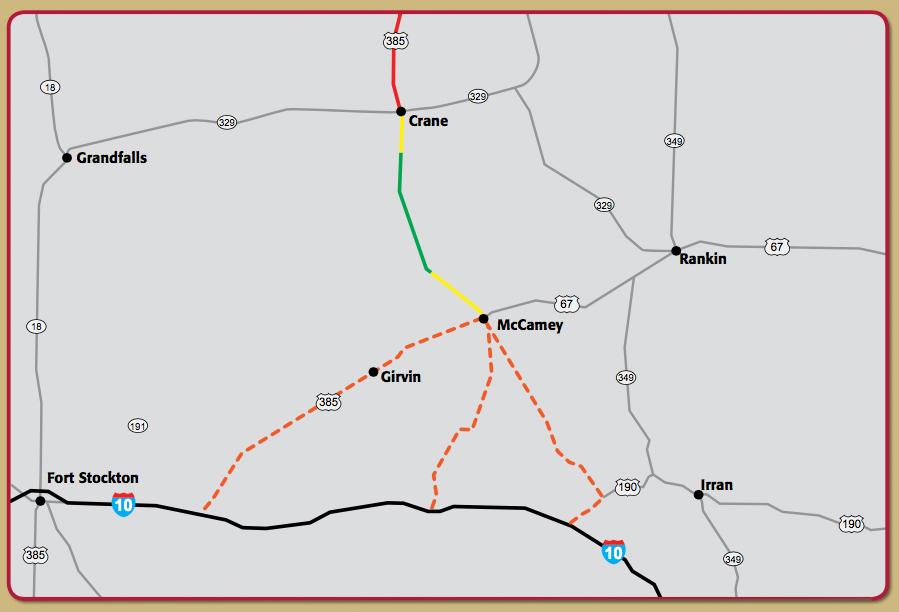 US 385 Improvement Map