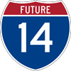 Future Interstate 14 Logo