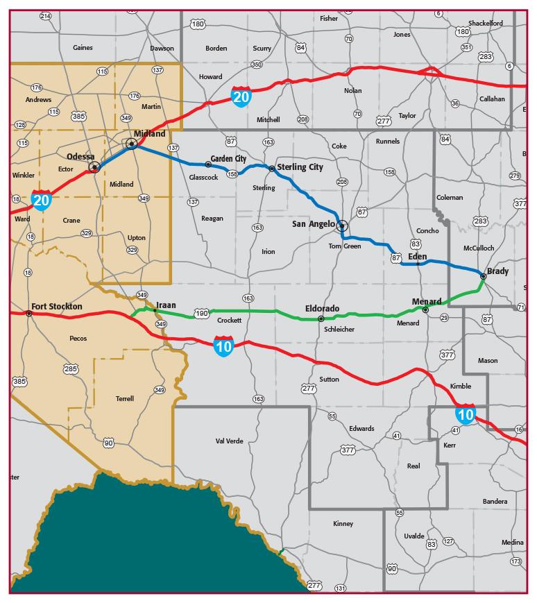 Future Interstate 14 Map
